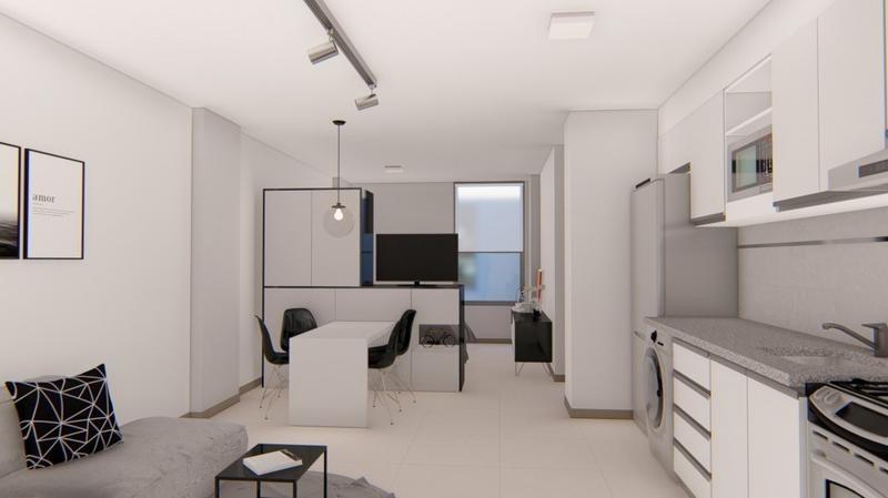 1 dormitorio con balcon. amenities