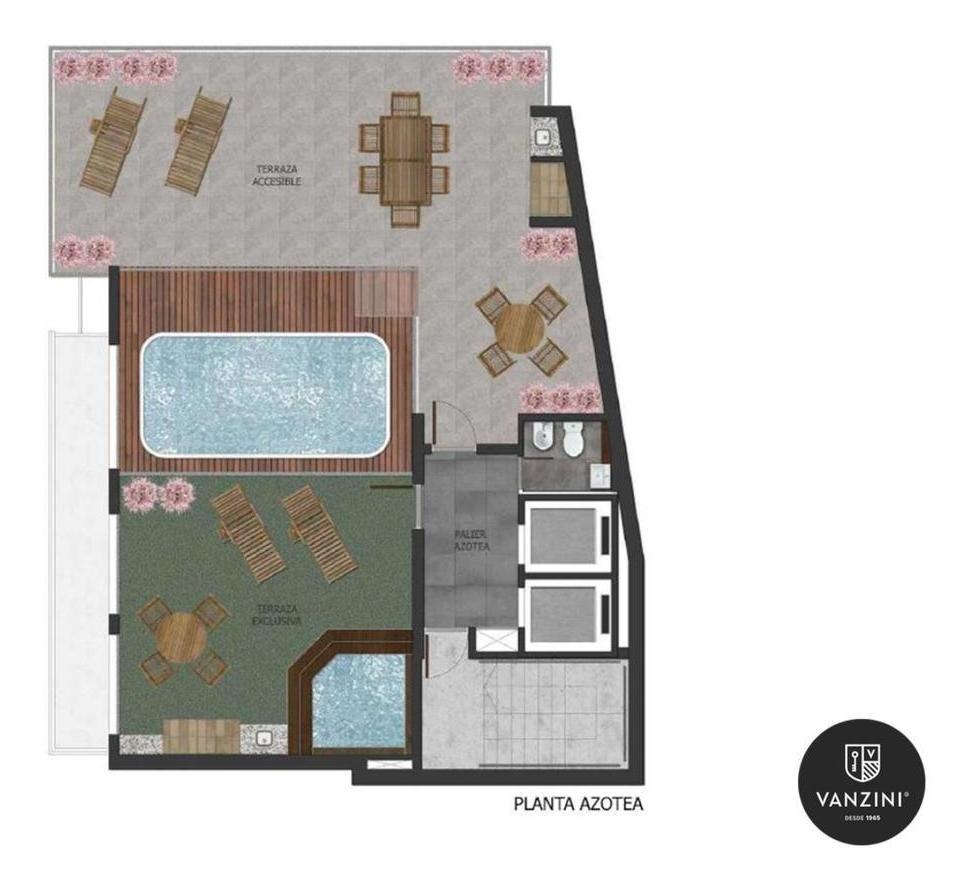 1 dormitorio con balcón en zona río