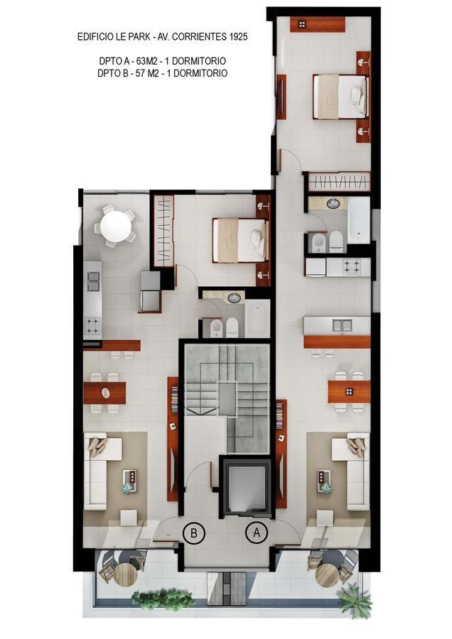 1 dormitorio en barrio abasto