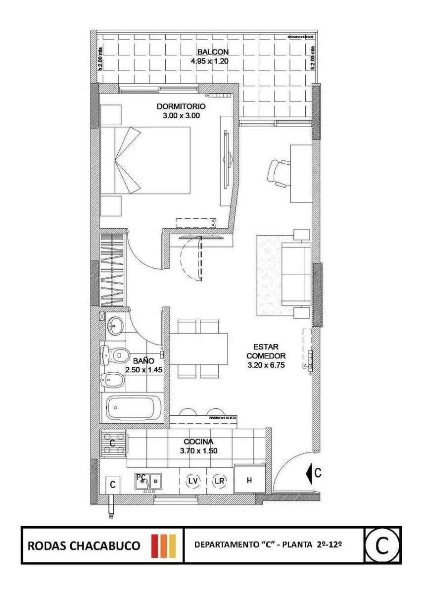 1 dormitorio en nueva cordoba, a 1 cuadra del parque de las tejas, con pileta
