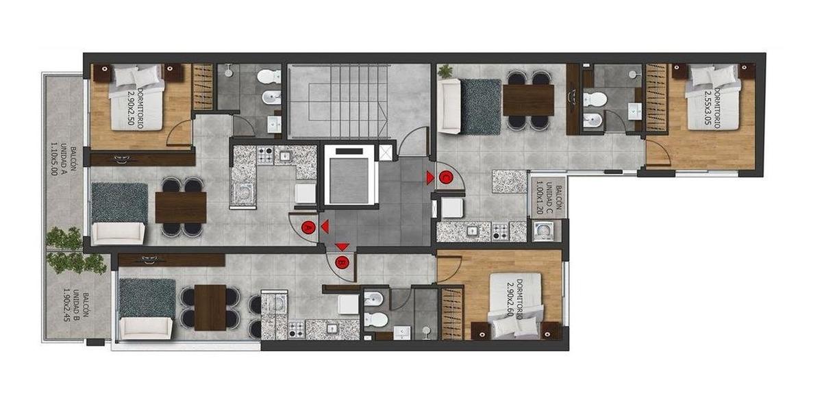 1 dormitorio en zona río