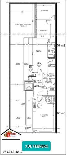1 dormitorio externo con doble balcón | 3 de febrero y ricchieri