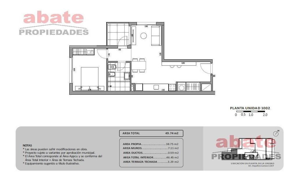 1 dormitorio | lanza, dr aquiles r al 1100