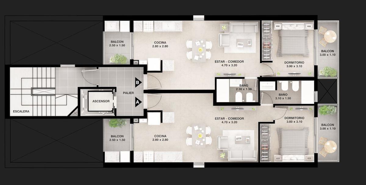 1 dormitorio ov. lagos y zeballos