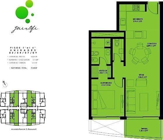 1 dormitorio | roosevelt, franklin