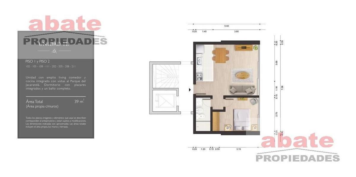 1 dormitorio   vidal y fuentes, dr a al 3000