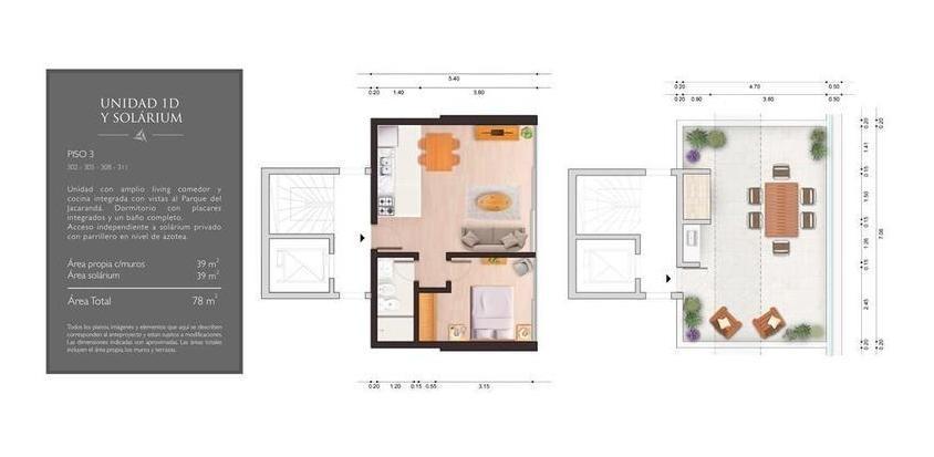 1 dormitorio | vidal y fuentes, dr a al 3000