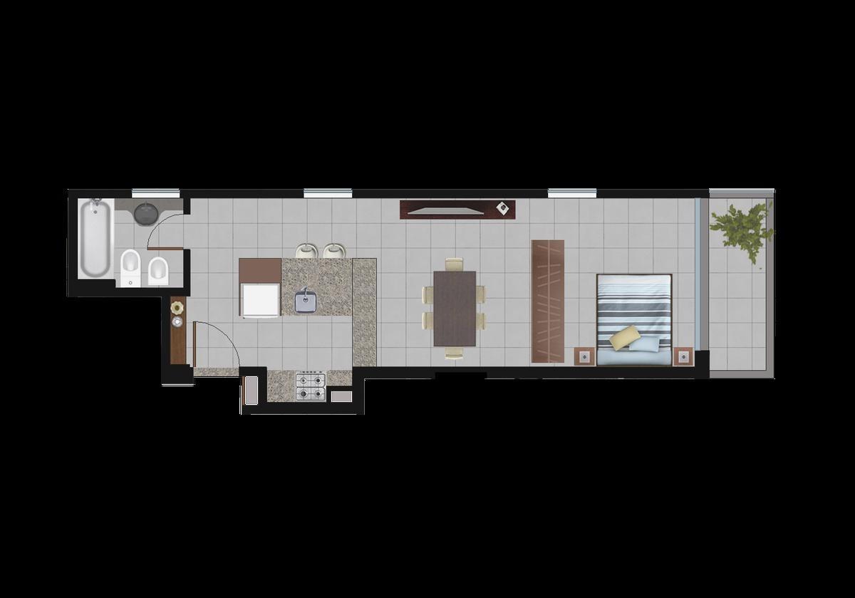 1 dormitorio y monoambientes frente a unr medicina - ideal para estudiantes