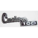 1 emblema palabra custom 100 de dodge envio gratis homologad
