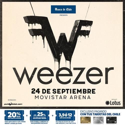 1 entrada a weezer platea alta golden