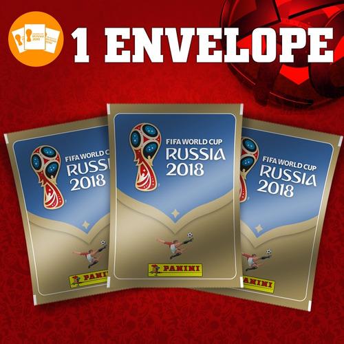 1 envelope lacrado com 5 figurinhas copa do mundo 2018