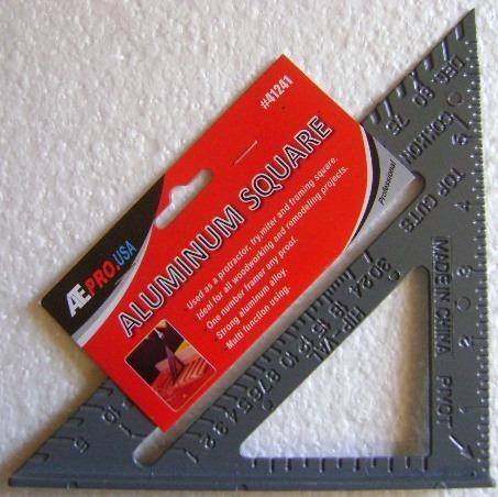 1 escuadra de aluminio para carpinteria de 7 pulgadas