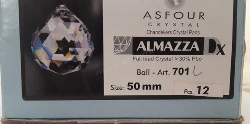 1 esfera bola cristal egípcio asfour feng shui 50mm (5,0 cm)