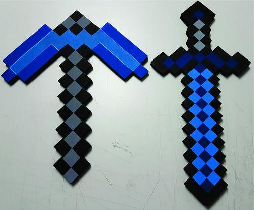 1 espada,1 picareta em e.v.a  jogo minecraft pronta entrega