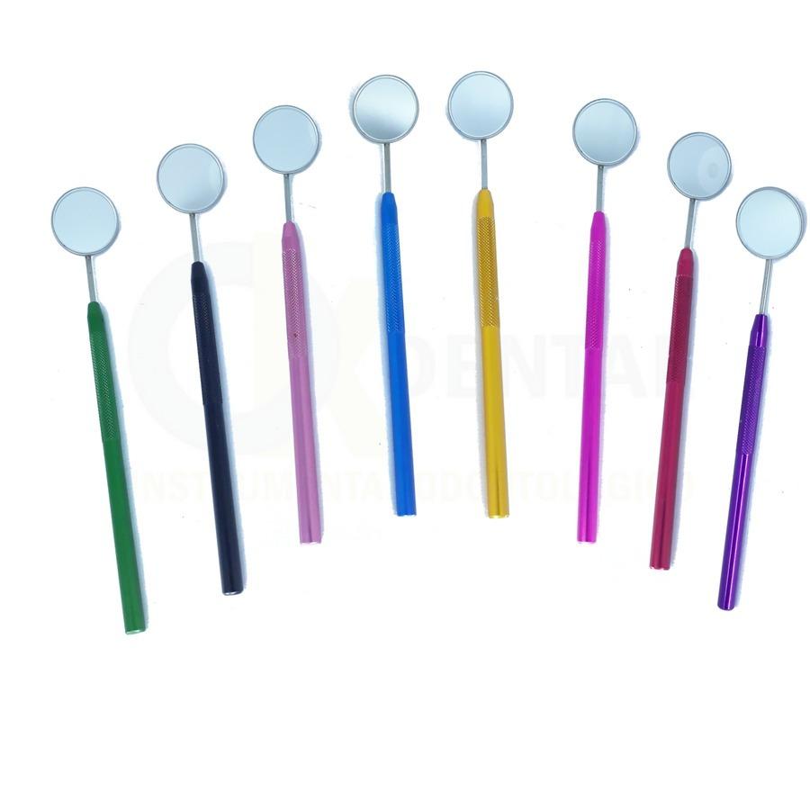 0723afa1b 1 espelho clínico odontológico com cabo em alumínio colorido. Carregando  zoom.