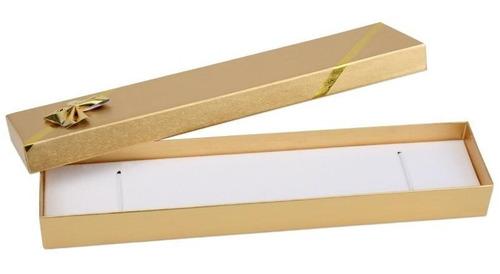 1 estojo linha laminada dourado e prateado pra pulseira