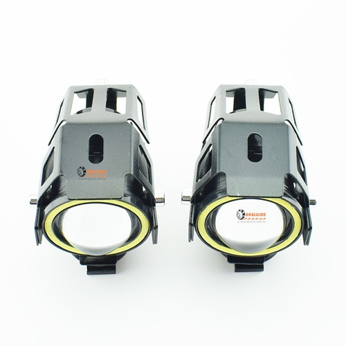 1 exploradora led ojo de angel u7 grande 4500lm moto/carro