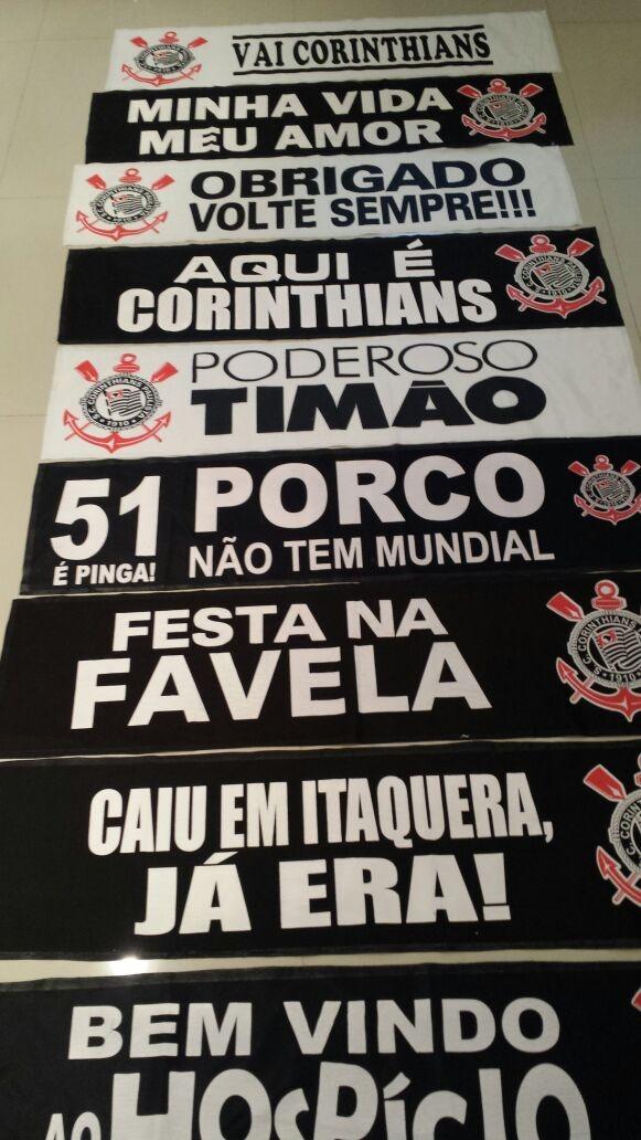 1 Faixa Corinthians Timao Escolha A Sua   Pronta Entrega - R  19 056744fde2ca2