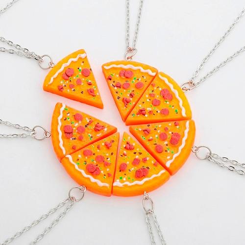 1 fatia colar de pizza melhores amigos best friends bff