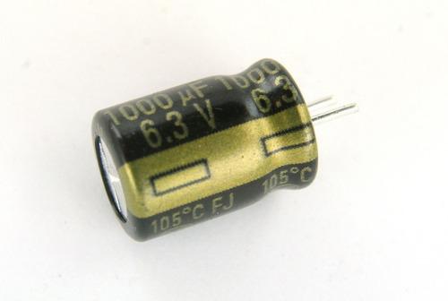 1 filtro condensador capacitor panasonic 6.3v 1000uf board