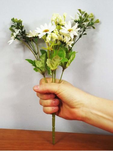 1 flor campo bouquet flores artificiais artificial pequeno