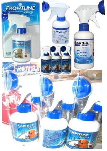 1 frontline spray 250 ml antipulga y 1 dexoryl para perro