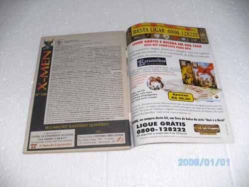 1 gibi x-men abril nº100 ed.comemorativa aliança f...