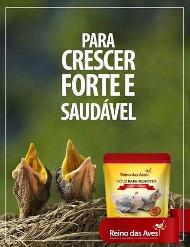 1 gold papa filhotes 4kg reino das aves - papinha calopsita