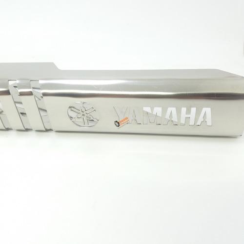1 guarda cadena/porta cadena en acero inoxidable para dt 125