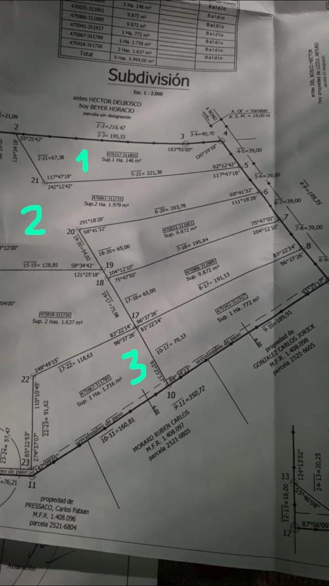 1 ha s/ la ruta 14 ,depto san alberto, nono, traslasierras
