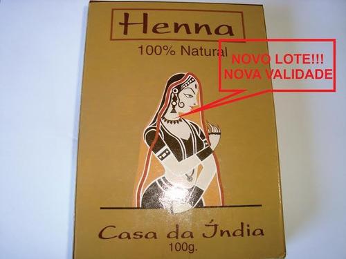1 henna natural original legítima pura indiana /melhor preço