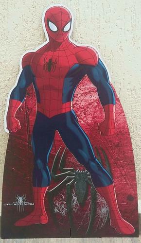 1 homem aranha 80cm e 4 de 22cm decoração festa vingadores