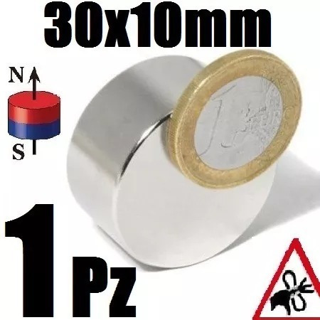 1 iman neodimio 30mm x 10mm biomagnetismo motores xto