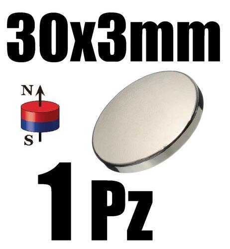 1 iman neodimio 30mm x 3mm alcalinizar biomagnetismo xto