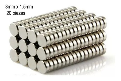 1 iman neodimio 3mm x 1.5mm muy potente broche xto