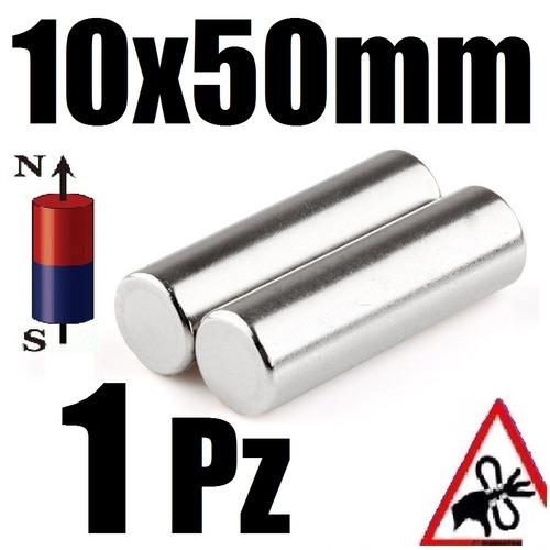 1 iman neodimio cilindrico 10mm x 50mm super potente xto