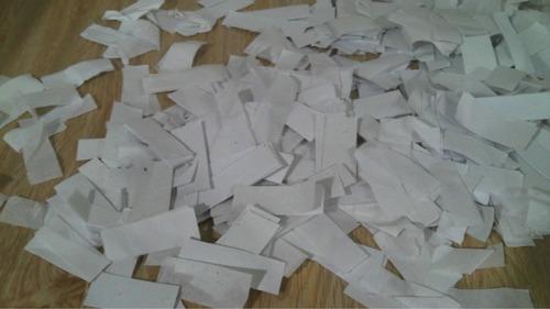 1 kg de papel blanco de seda, confeti, lanza papeles