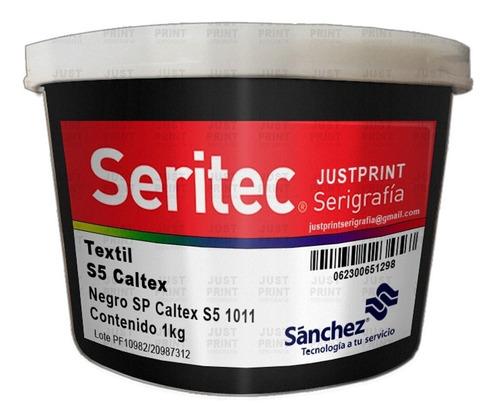 1 kg tinta caltex negro sp serigrafia sanchez