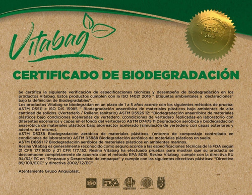 1 kilo de  bolsa camiseta biodegradable impresión genérica
