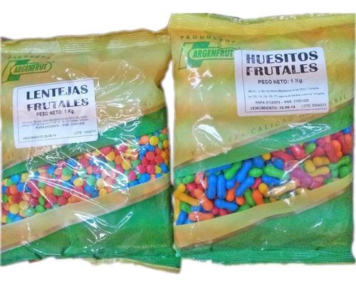 1 kilo huesitos frutales la golosineria souvenirs