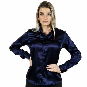 c747442d94 1 Kit 8 Camisas Femininas Cetim C  Elastano - Pimenta Rosada