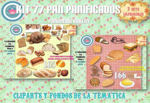 1 kit imprimible x 2 sets pan panificados desayunos bandejas