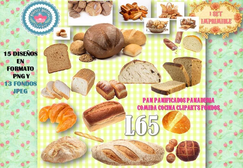 1 kit imprimible x 2 sets pan panificados panaderia bakery