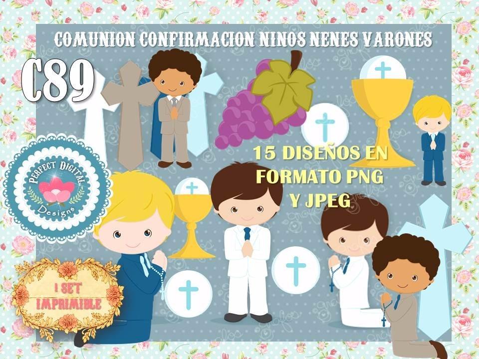 1 Kit Imprimible X 6 Comunion Niño Nene Varon Confirmacion - $ 159 ...