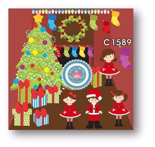 1 kit imprimible x 6 navidad cliparts imagenes p/ artesanias