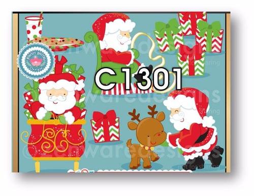 1 kit imprimible x 6 navidad cliparts scrapbook siluetas tag