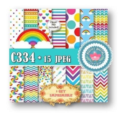 1 kit imprimible x 7 arco iris decoracion cuartos niños tags