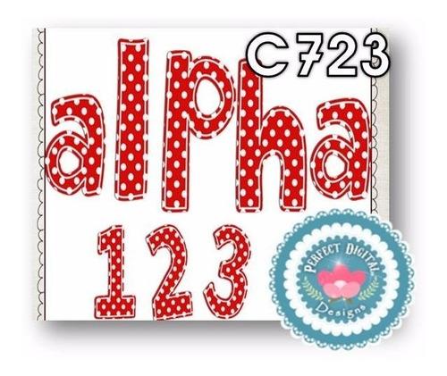 1 kit imprimible x6 alfabeto abecedario letras p/ diseños
