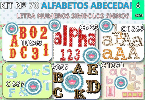 1 kit imprimible x6 alfabeto abecedario letras p/ scrapbook
