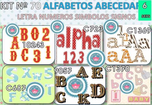 1 kit imprimible x6 alfabeto abecedario letras p/deco cuarto